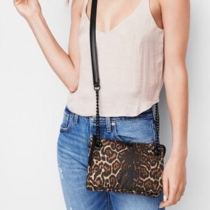 VS Leopard crossbody purse with chain straps